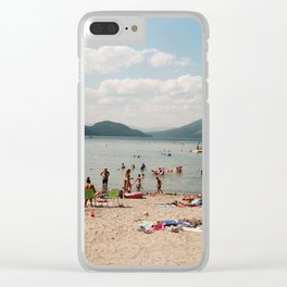 Montana Beach Day Clear iPhone Case