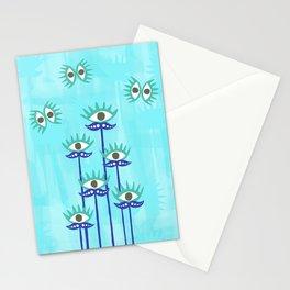 Evil Eye Nazar protective Garden Blue Stationery Cards