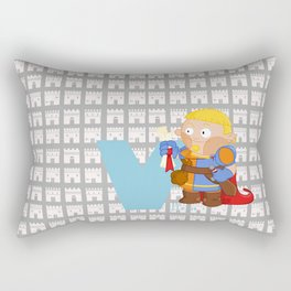 v for villein Rectangular Pillow