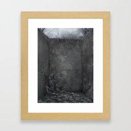 Dead artist in the comfort zone Framed Art Print