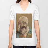 monet V-neck T-shirts featuring 50 Artists: Claude Monet by Chad Beroth