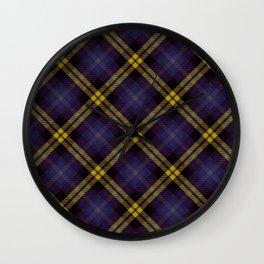 Scottish tartan #40 Wall Clock
