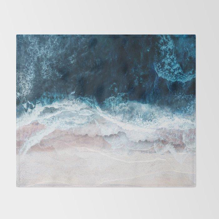 Blue Sea II Throw Blanket