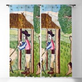 BETHLEHEM PROSPECTUS 3 (Painted Shed) Blackout Curtain