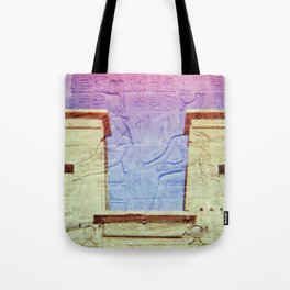 Egyptian Hieroglyphic Face Tote Bag
