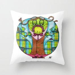 Toad in Tweeds Throw Pillow
