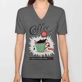 Saved By Coffee Unisex V-Neck