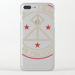 I Am Protected magickal activated sigil tshirt gift Clear iPhone Case