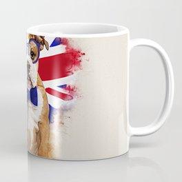 English Bulldog Puppy in Glasses Coffee Mug