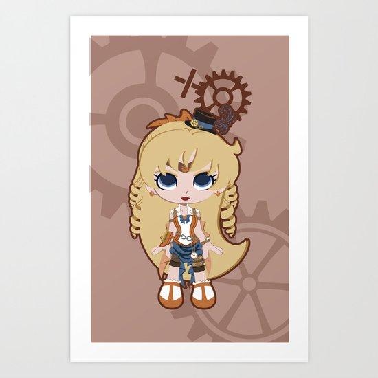 Steampunk Sailor Venus - Sailor Moon Art Print