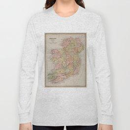 Vintage Map of Ireland (1883) Long Sleeve T-shirt