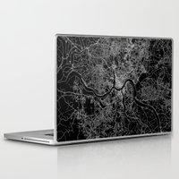 cincinnati Laptop & iPad Skins featuring Cincinnati map by Line Line Lines