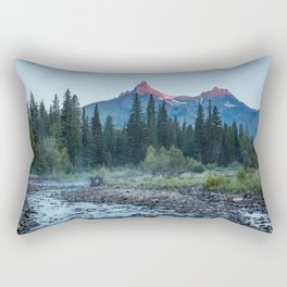 Pilot Peak - Mountain Scenery at Sunrise in Northeastern Yellowstone Rectangular Pillow