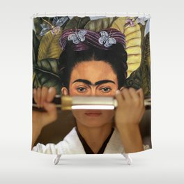 Kill Bill's O-Ren Ishii & Self Portrait Shower Curtain