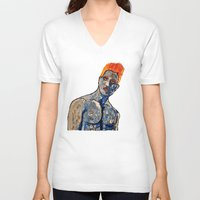 apollo V-neck T-shirts featuring Apollo by Chris The Artist