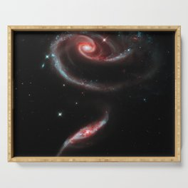 Rose of Galaxies Serving Tray