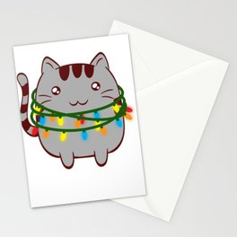 Xmas Cat Claws Christmas Cute Kittie Kitten Christmas Collection Meowy Christmas T-shirt Design Stationery Cards