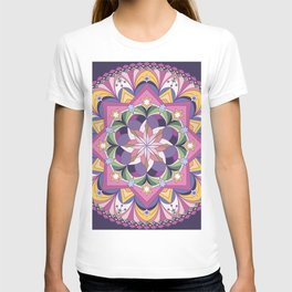 Purple mandala T-shirt