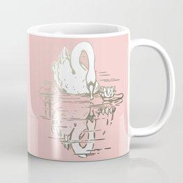 Beautiful Swan Reflection - Shell Pink Coffee Mug