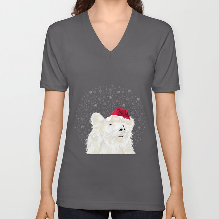 Beary Merry Christmas Unisex V-Neck