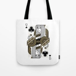 Omnia Oscura Queen of Clubs Tote Bag