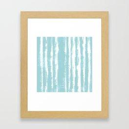 Shibori Stripe Seafoam Framed Art Print