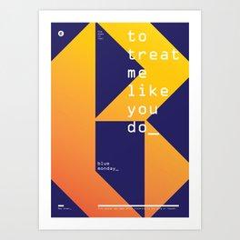 Blue Monday Art Print