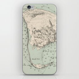 Vintage Map of Provincetown MA (1892) iPhone Skin