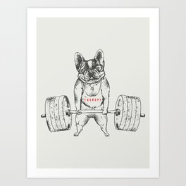 Frenchie Lift Art Print