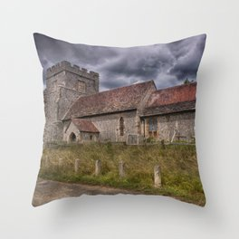 Hamsey Old Church Throw Pillow