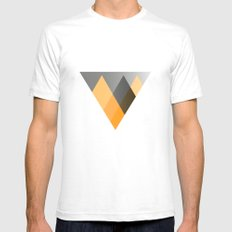 Landscape in Orange SMALL Mens Fitted Tee White