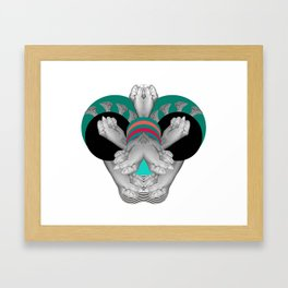 Hand bug Framed Art Print