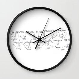 Acquaintances Wall Clock