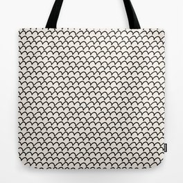 Cream background with black lumps Tote Bag