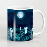 kodama Mugs featuring Princess Mononoke (Kodama) by pkarnold + The Cult Print Shop