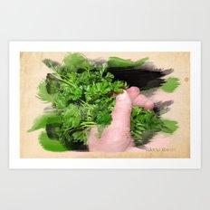 Parsley Painting Art Print