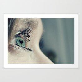 The love in her eyes Art Print