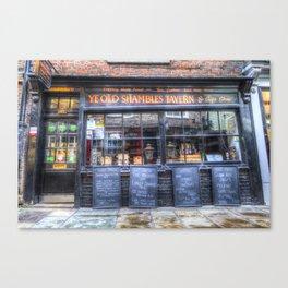 Ye Old Shambles Tavern York Canvas Print