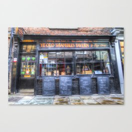 Ye Old Shambles Tavern York Canvas Print