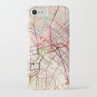 dallas iPhone & iPod Cases featuring Dallas by MapMapMaps.Watercolors