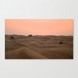 Arabian Desert Sunset Canvas Print