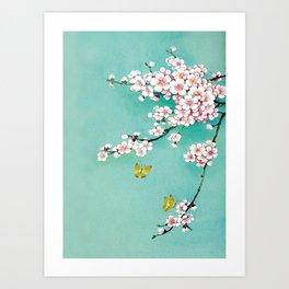 Dreamy cherry blossom Art Print