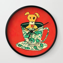 Dinnerware Sets - puppy in a teacup Wall Clock