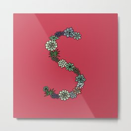 Letter S - 36 Days of Type Metal Print