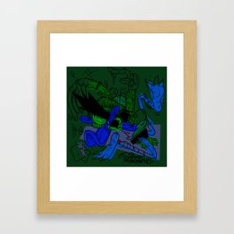 Duck bread Framed Art Print