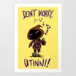 Don't Worry (Yellow) Art Print