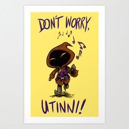 Don't Worry (Yellow) Art Print