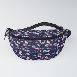 Flamingos In Space Fanny Pack