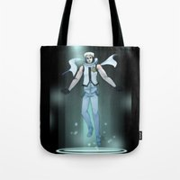 vocaloid Tote Bags featuring VOCALOID Zane by Witchy