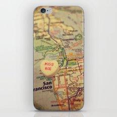 Kiss Me San Francisco iPhone & iPod Skin